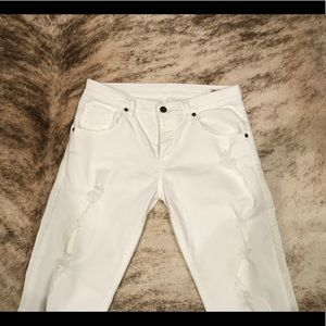 Citizens Of Humanity Jeans - Citizens Of Humanity White Boyfriend Jean